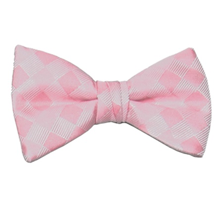 Baby Pink Patterned Bow Tie