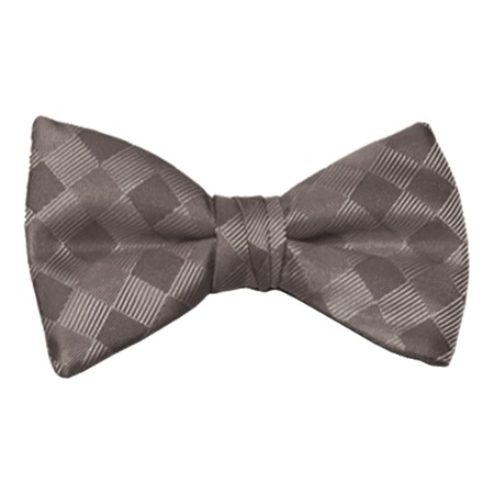 Charcoal Patterned Bow Tie